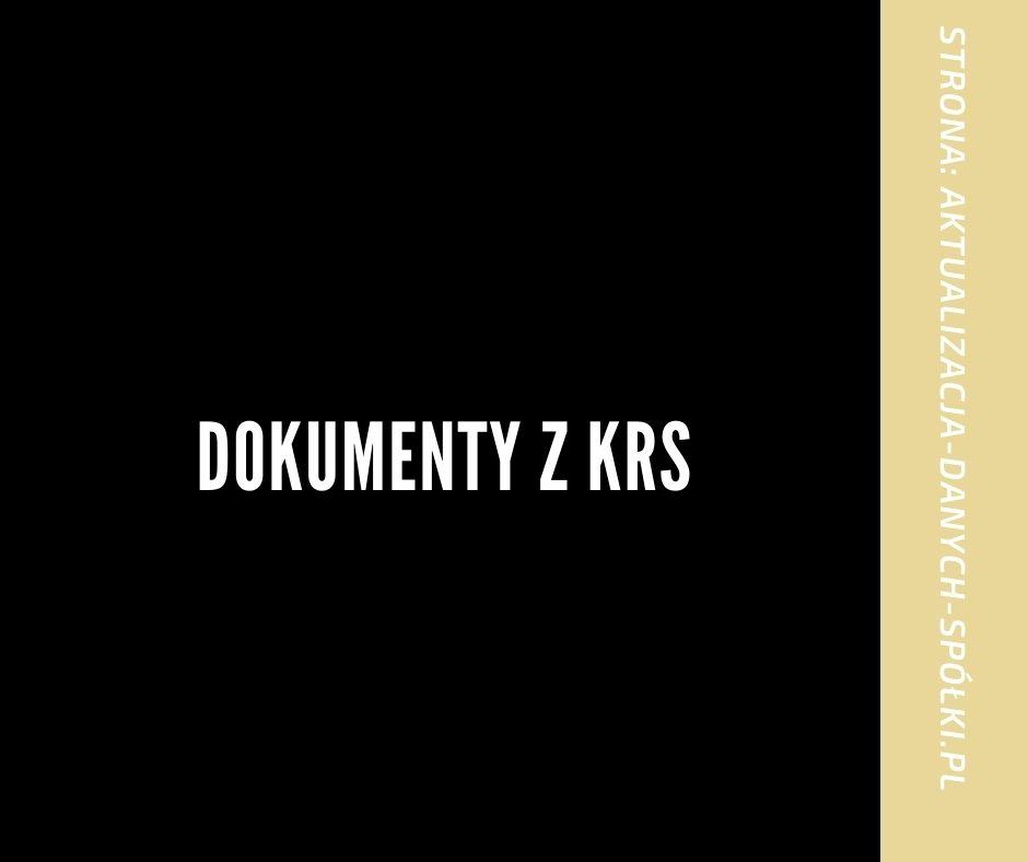 Dokumenty z KRS