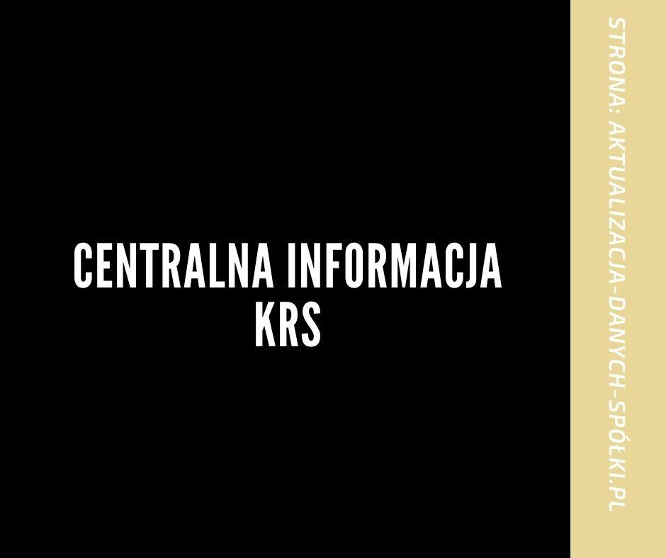 Centralna Informacja KRS